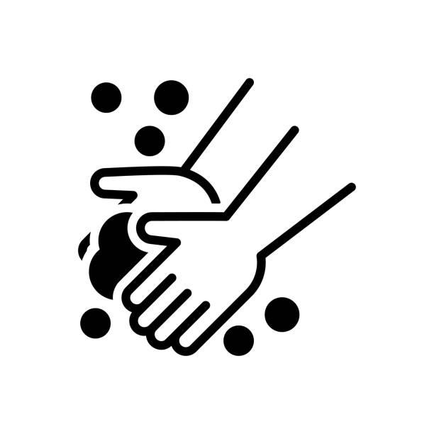 bildbanksillustrationer, clip art samt tecknat material och ikoner med tvätt hand - washing hands