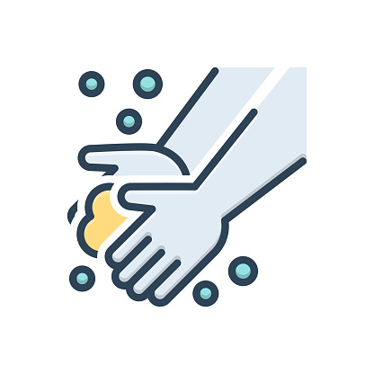 Icon for washing hand, washing, hand, hygience, prevention, health, disinfection, cleaner