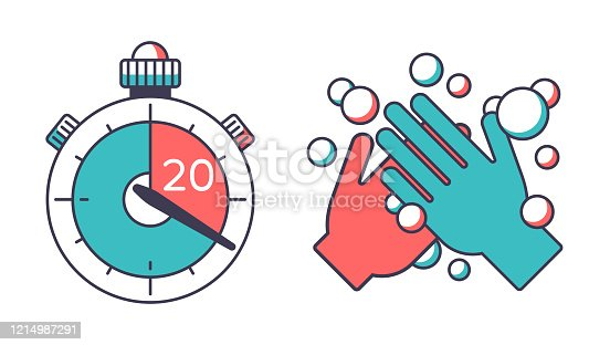istock Washing Hands for 20 Seconds Timer 1214987291