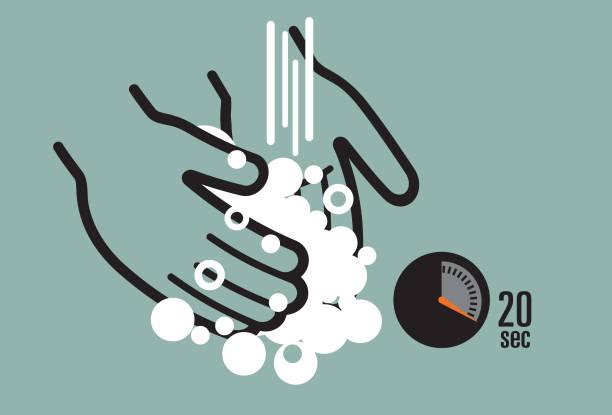 bildbanksillustrationer, clip art samt tecknat material och ikoner med ikon för att tvätta händerna - washing hands