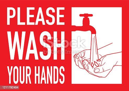 istock Washing Hands Sign 1211792454