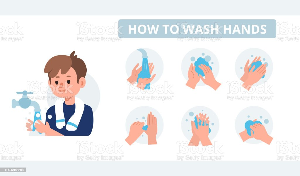 Washing Hands Steps Images, Stock Photos & Vectors | Shutterstock