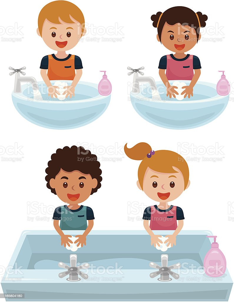 washing hands royalty-free washing hands stock vector art & more images of bacterium