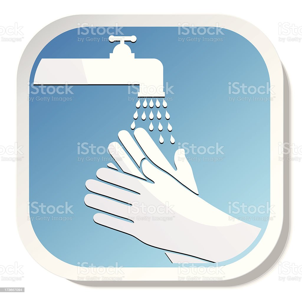 Washing Hands royalty-free stock vector art