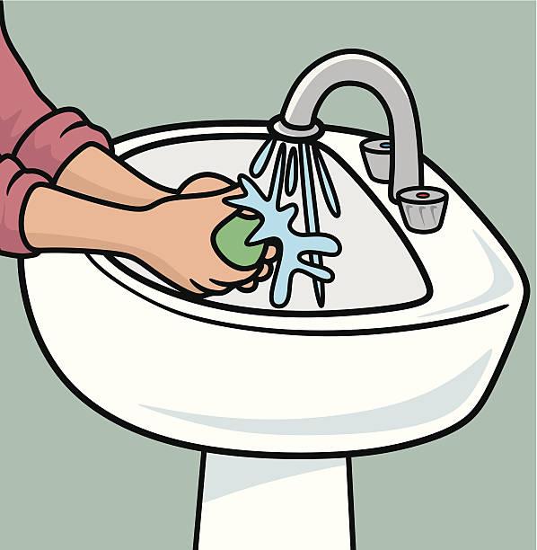 Hände Waschen Vektorgrafiken und Illustrationen - iStock