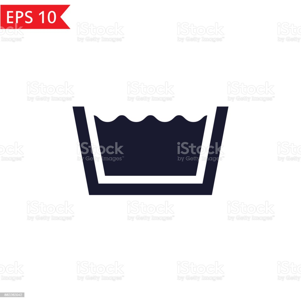 Washing icon. vector art illustration