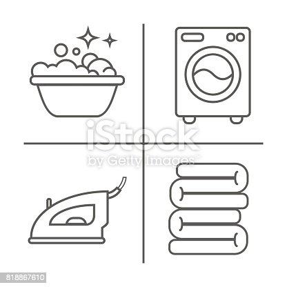 waschen b geln saubere w sche linie symbole waschmaschine b geleisen handw sche und andere. Black Bedroom Furniture Sets. Home Design Ideas