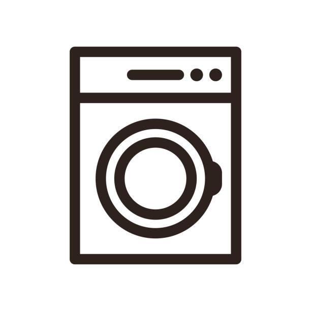washing machine icon - washing machine stock illustrations, clip art, cartoons, & icons