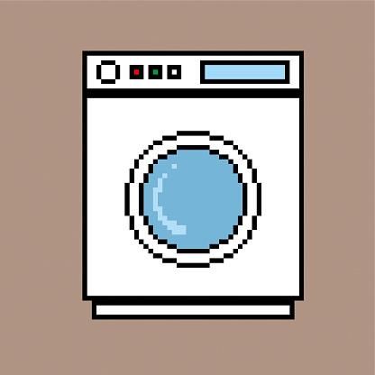 Washing machine pixel style