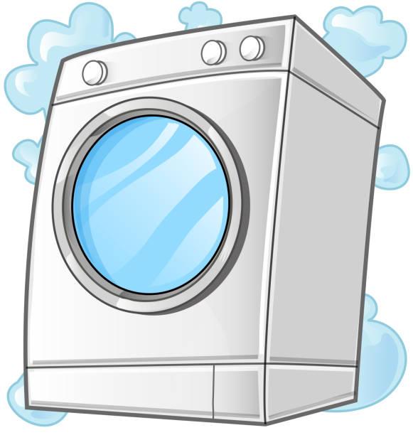 washing machine. Vector clip art illustration vector art illustration