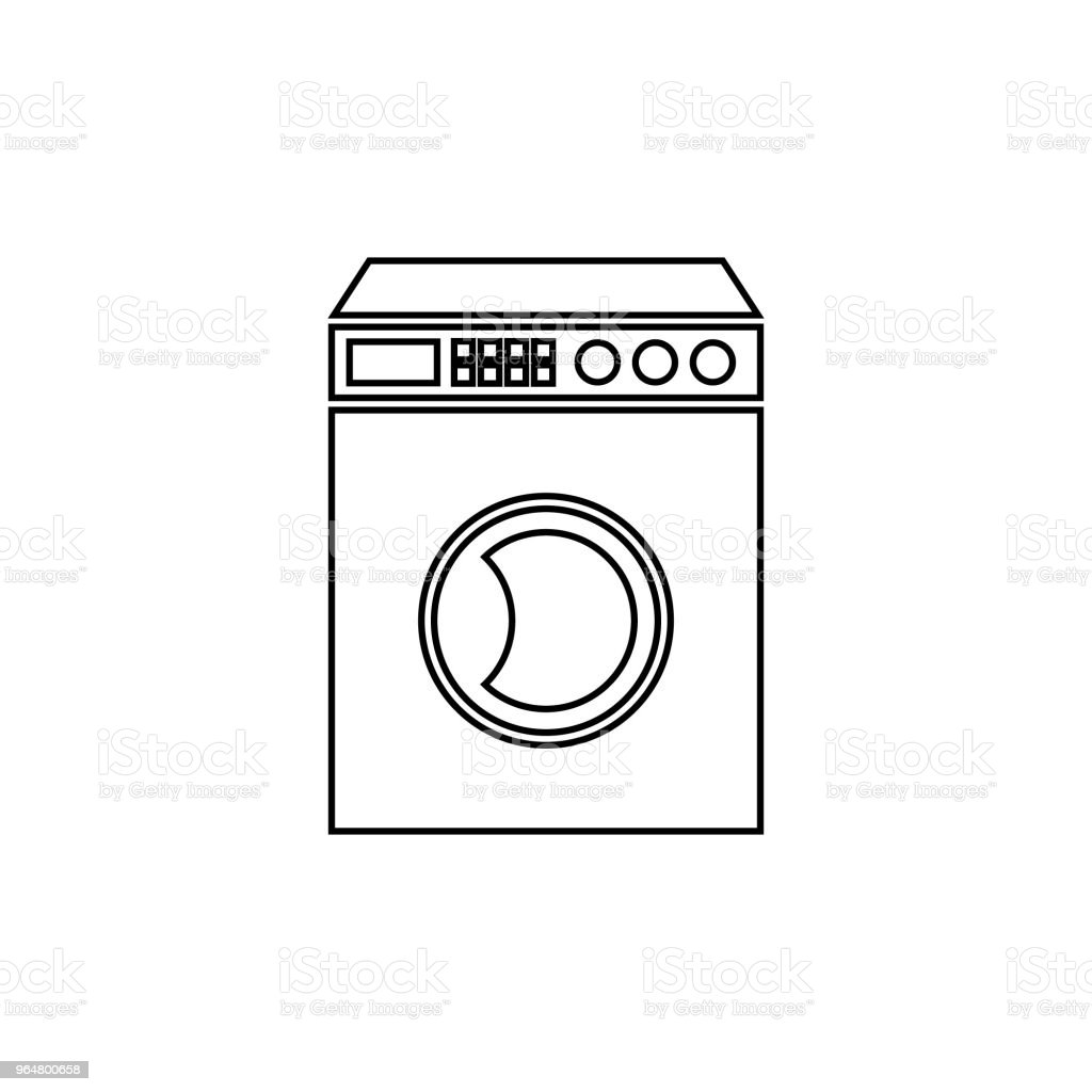 Washing machine vector icon thin line royalty-free washing machine vector icon thin line stock vector art & more images of appliance