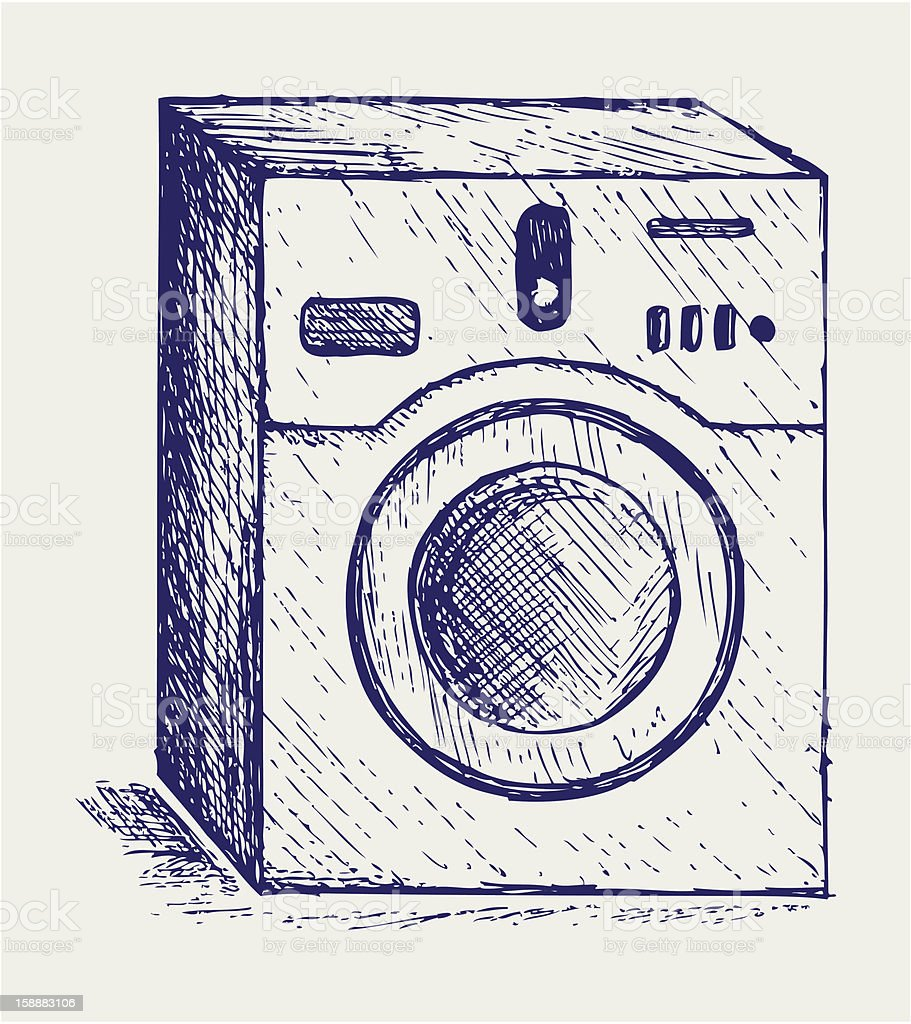 Washing machine royalty-free stock vector art