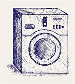Washing machine. Doodle style