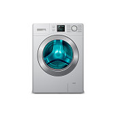 vector 3d realistic washing machine
