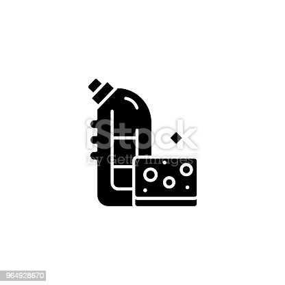 Washing Means Black Icon Concept Washing Means Flat Vector Symbol