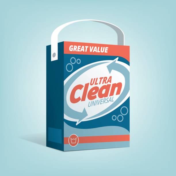 washing powder box - disinfectant stock illustrations