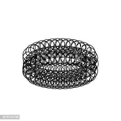 istock washing stainless steel dish mesh scourer icon, vector illustration. 923246198