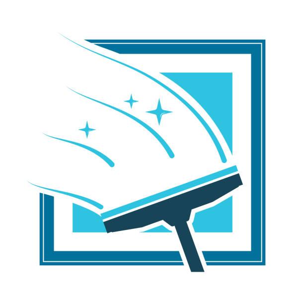 waschen-windows-symbol - fenster putzen stock-grafiken, -clipart, -cartoons und -symbole