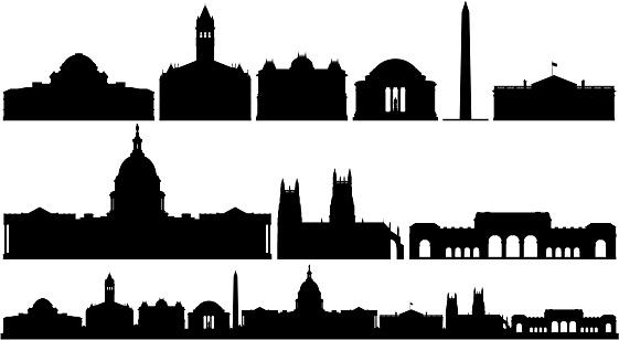 Washington DC Buildings and Skyline