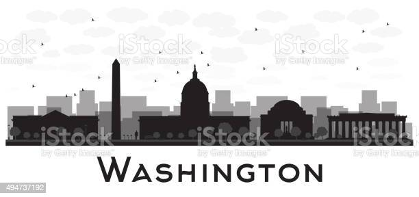 Washington dc city skyline black and white silhouette vector id494737192?b=1&k=6&m=494737192&s=612x612&h=b4xmv435n0u2ms6llp5hweh7anaf imya6mq0kum4he=