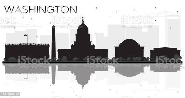 Washington dc city skyline black and white silhouette with vector id812933178?b=1&k=6&m=812933178&s=612x612&h=qmiobpumuodqsu pa 8vtzwzbxs0jslxea99x9mf67m=