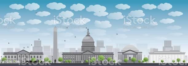 Washington Dc City Skyline Silhouette Stockvectorkunst en meer beelden van 2015