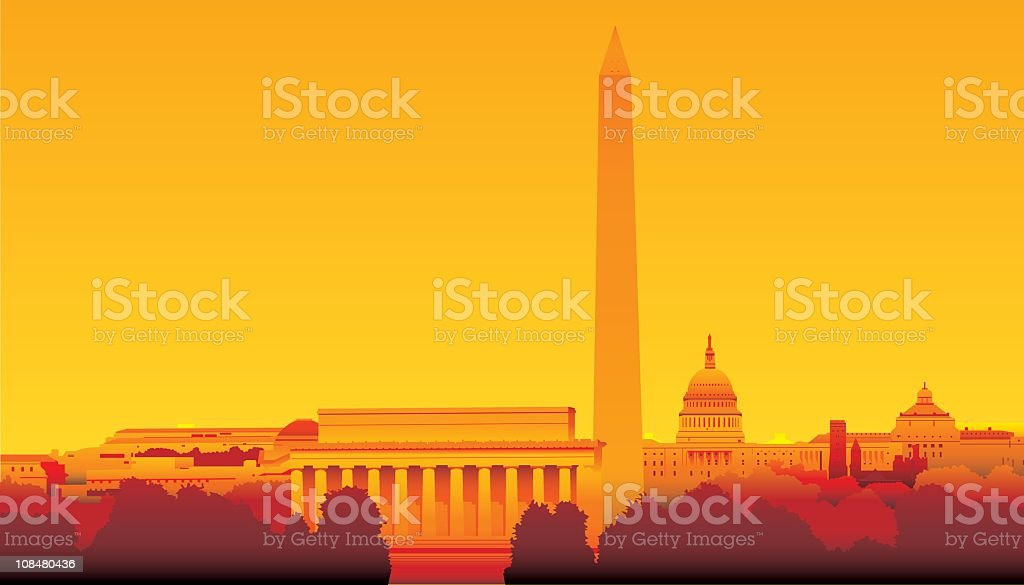 Washington DC royalty-free stock vector art
