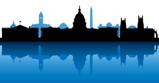 Washington DC (All Buildings Are Complete and Moveable) vector art illustration