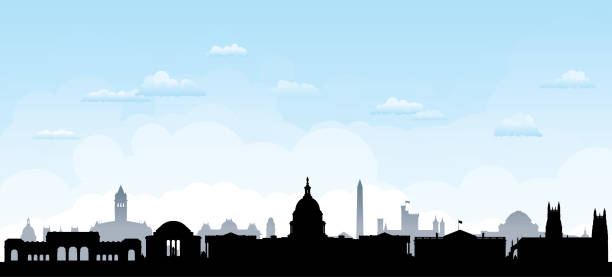 Washington DC (All Buildings Are Complete and Moveable) Washington DC. All buildings are complete and moveable. washington dc stock illustrations