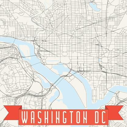 Washington DC Vector Map