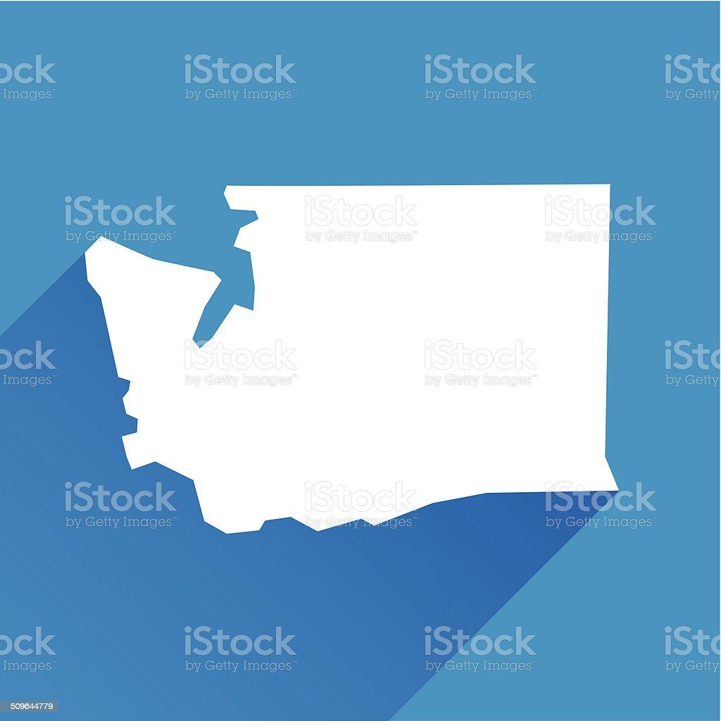 Washington Icon vector art illustration