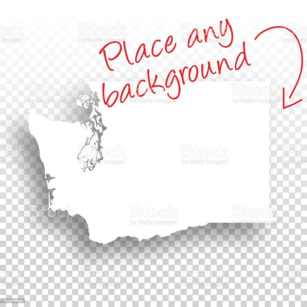 Washington Map for design - Blank Background vector art illustration