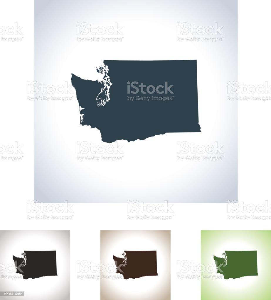 Washington map royalty-free washington map stock vector art & more images of black color