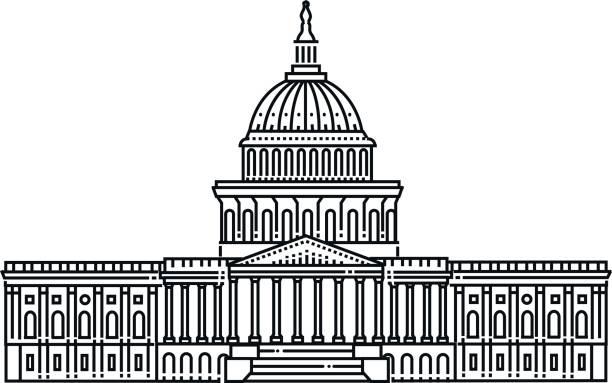 ilustrações, clipart, desenhos animados e ícones de capitólio do estado de washington em olympia, estados unidos - capitel
