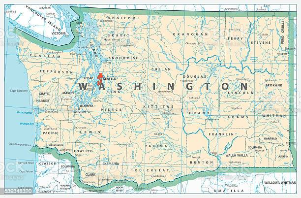 washington-state-detailed-map-vector-id5