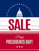 Washington's Birthday discount banner. Vector
