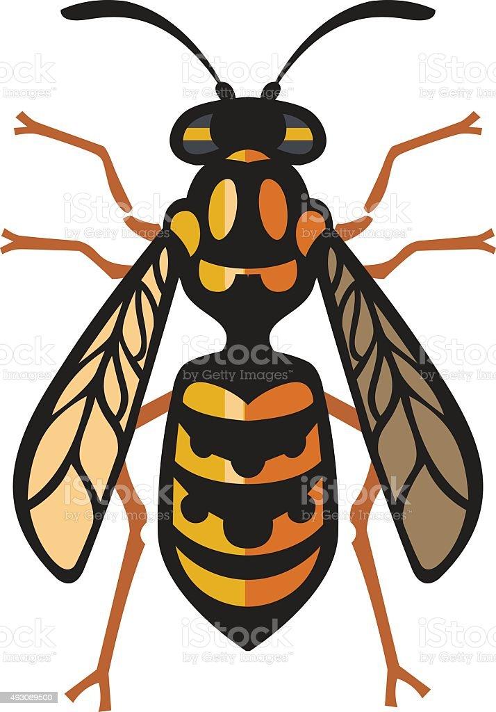 Wasp Bee Hornet vector illustration vector art illustration