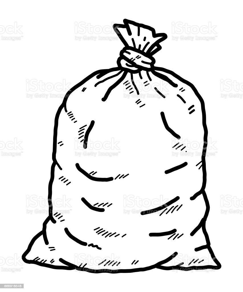 waste bag vector art illustration