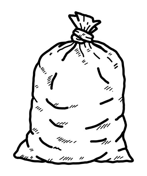 waste bag vector art illustration