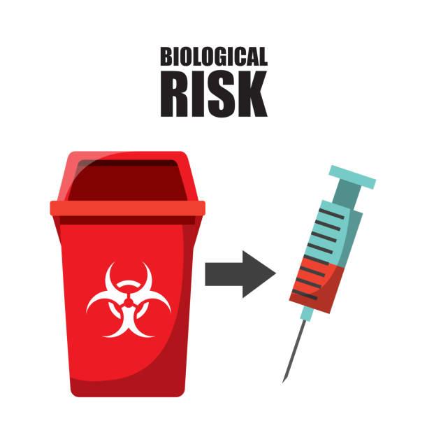 waste concept design waste concept design, vector illustration eps10 graphic biohazard symbol stock illustrations