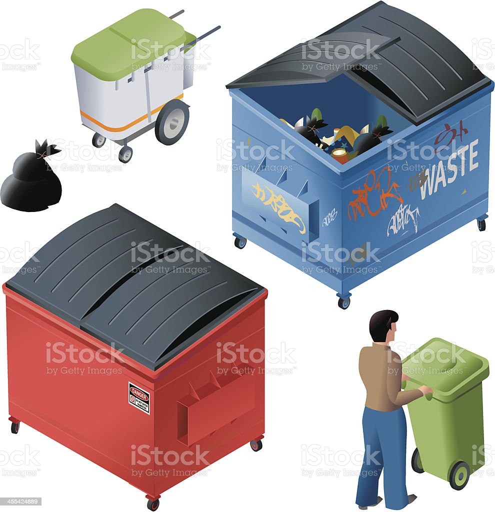 Waste containers royalty-free waste containers stock vector art & more images of adult