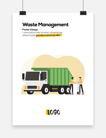 Waste Management Concept for Posters, Covers and Banners. Modern Flat Design Vector Illustration.