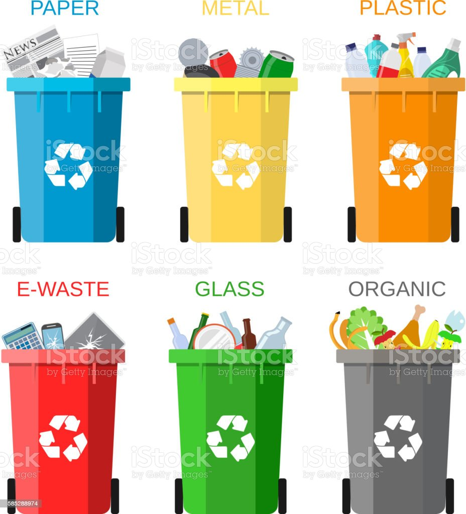 Waste management concept vector art illustration