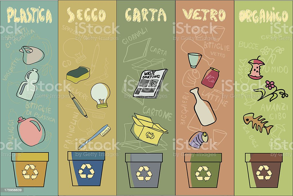 waste management ITA vector art illustration
