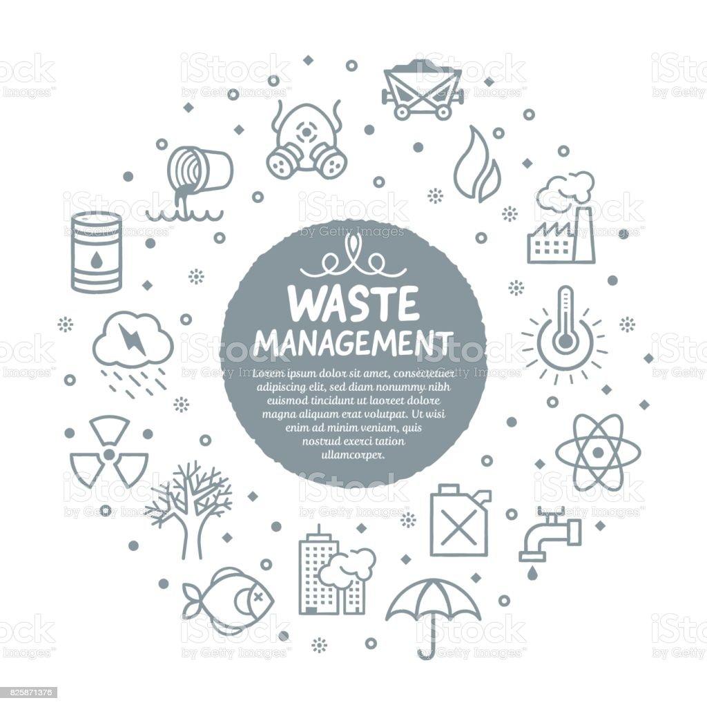 Waste Management Services Poster vector art illustration