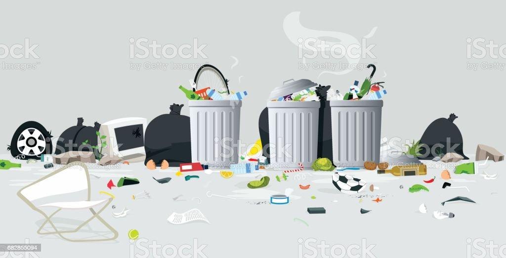 Waste of garbage - ilustración de arte vectorial