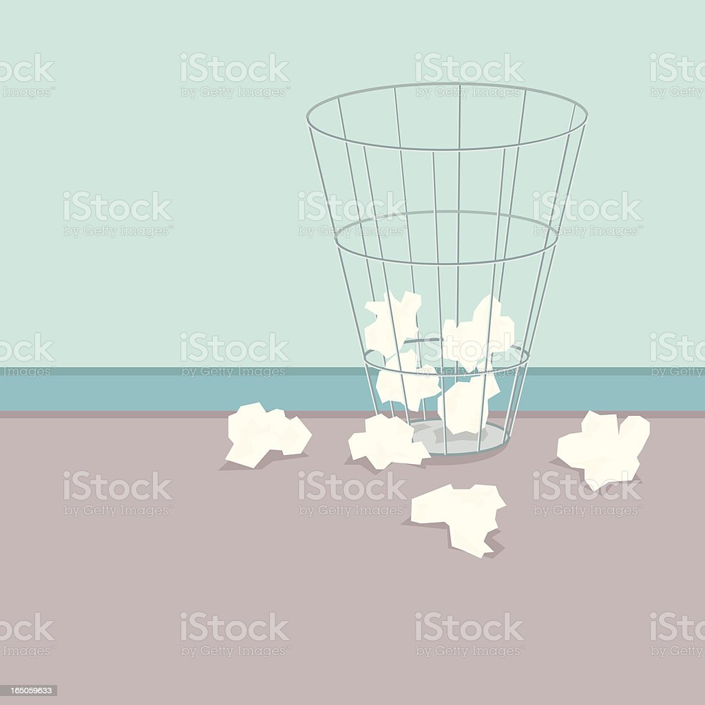 Waste Paper vector art illustration