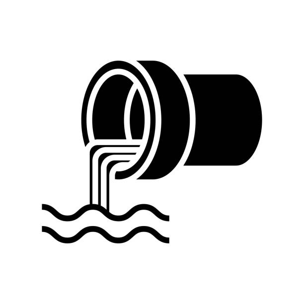 wastewater icon - tap water stock illustrations