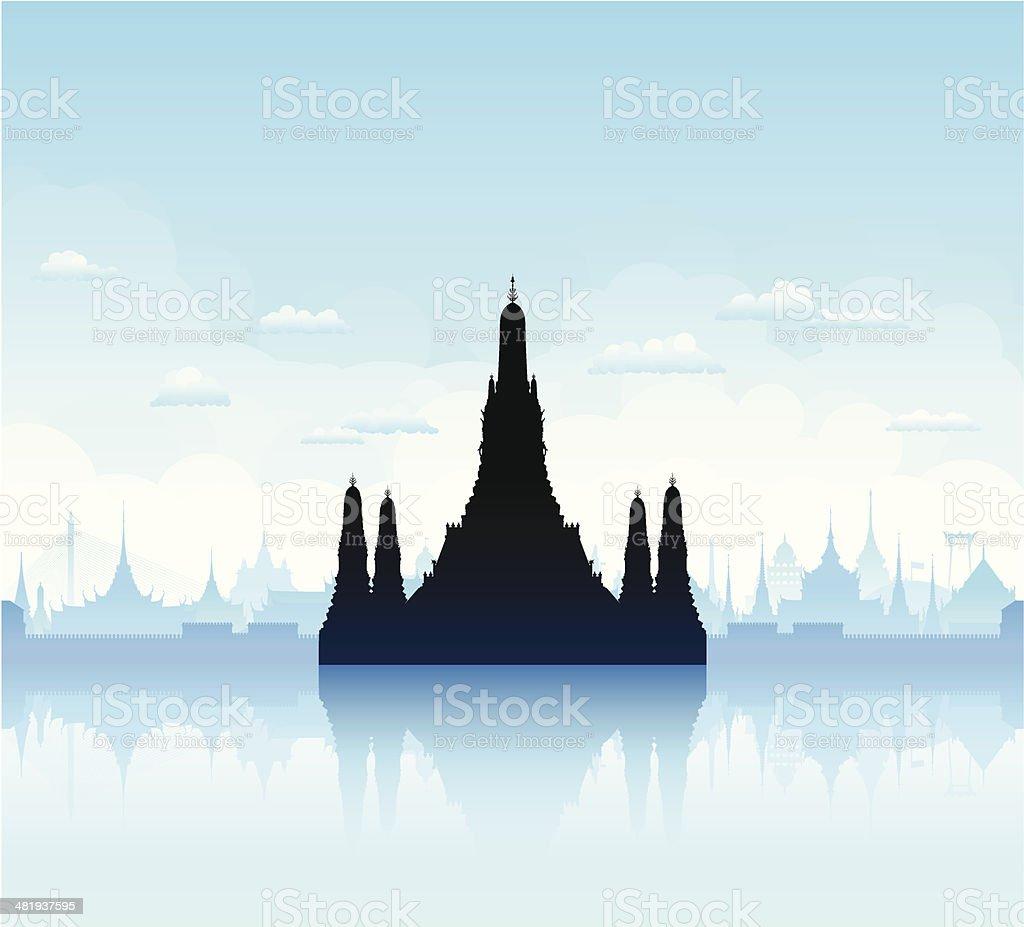 Wat Arun, Bangkok royalty-free stock vector art