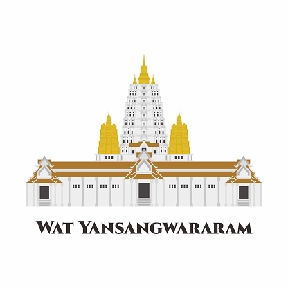 Wat Yan Sang Wararam, Thailand. Sprawling Buddhist temple complex in a picturesque setting with gardens & a large lake. One of the most impressive temples in Pattaya. It is great place to visit.